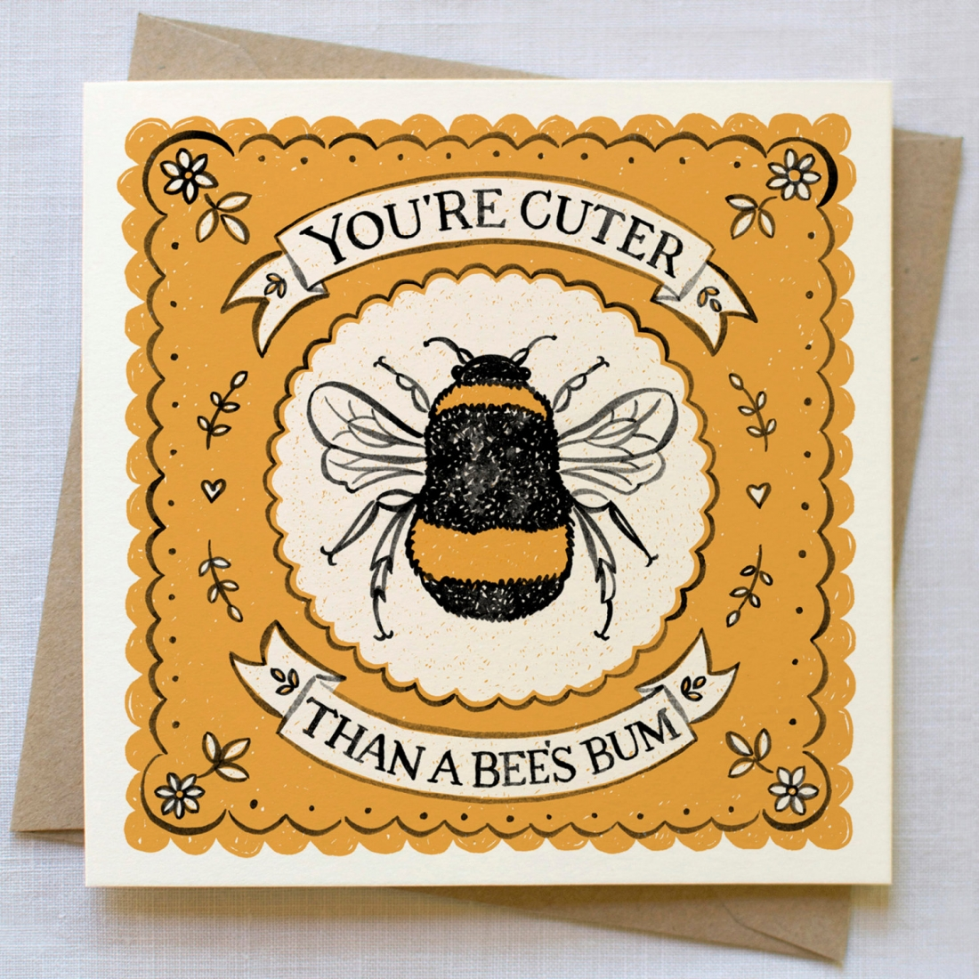 Priced at £3.49 | [Buy the card](https://www.etsy.com/uk/listing/462173925/cute-bee-card-valentines-card-valentine?ga_order=most_relevant&ga_search_type=all&ga_view_type=gallery&ga_search_query=valentines%20card&ref=sr_gallery-3-21)
