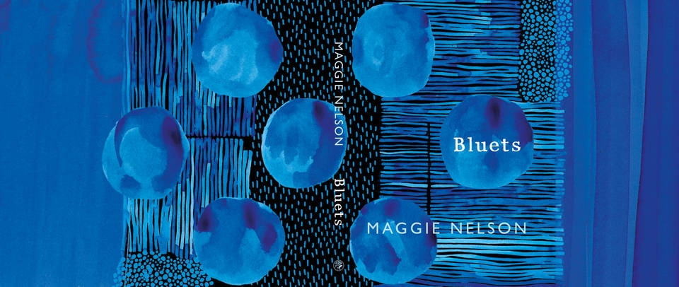 Book Cover Design Award, Suzanne Dean, Bluets, published by Jonathan Cape