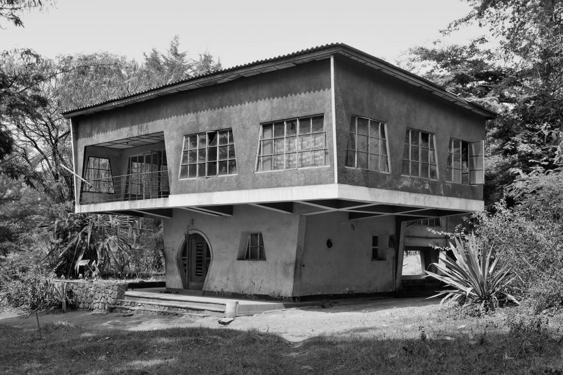 "House ""Le Champignon"", Gitega, Burundi, around 1946 © Photo: Jean Molitor"