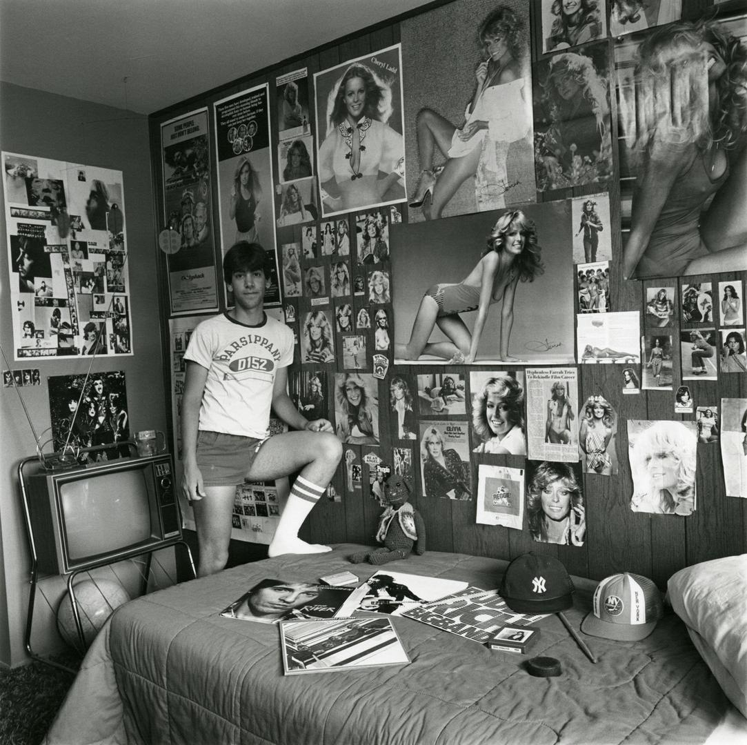 Linda Brooks David in his Room 1981