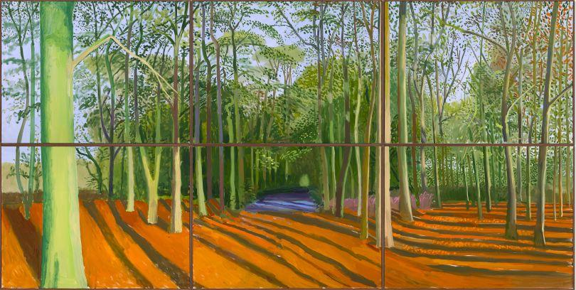 David Hockney: Woldgate Woods 6 & 9 November (2006) © David Hockney, Photo Credit: Richard Schmidt.
