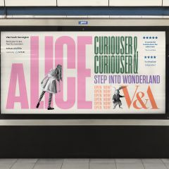 Tom Hingston Visual Identity Images for Alice: Curiouser and Curiouser exhibition, V&A, London © Hingston Studio