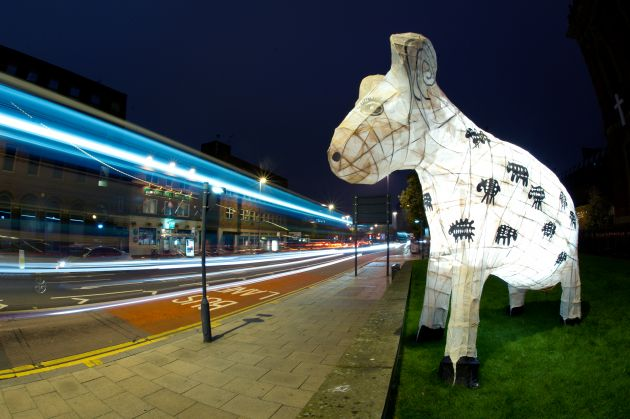 Arthur the Sheep Light Night 2010. All images courtesy of the artists and Pyramid. Via Creative Boom submission.