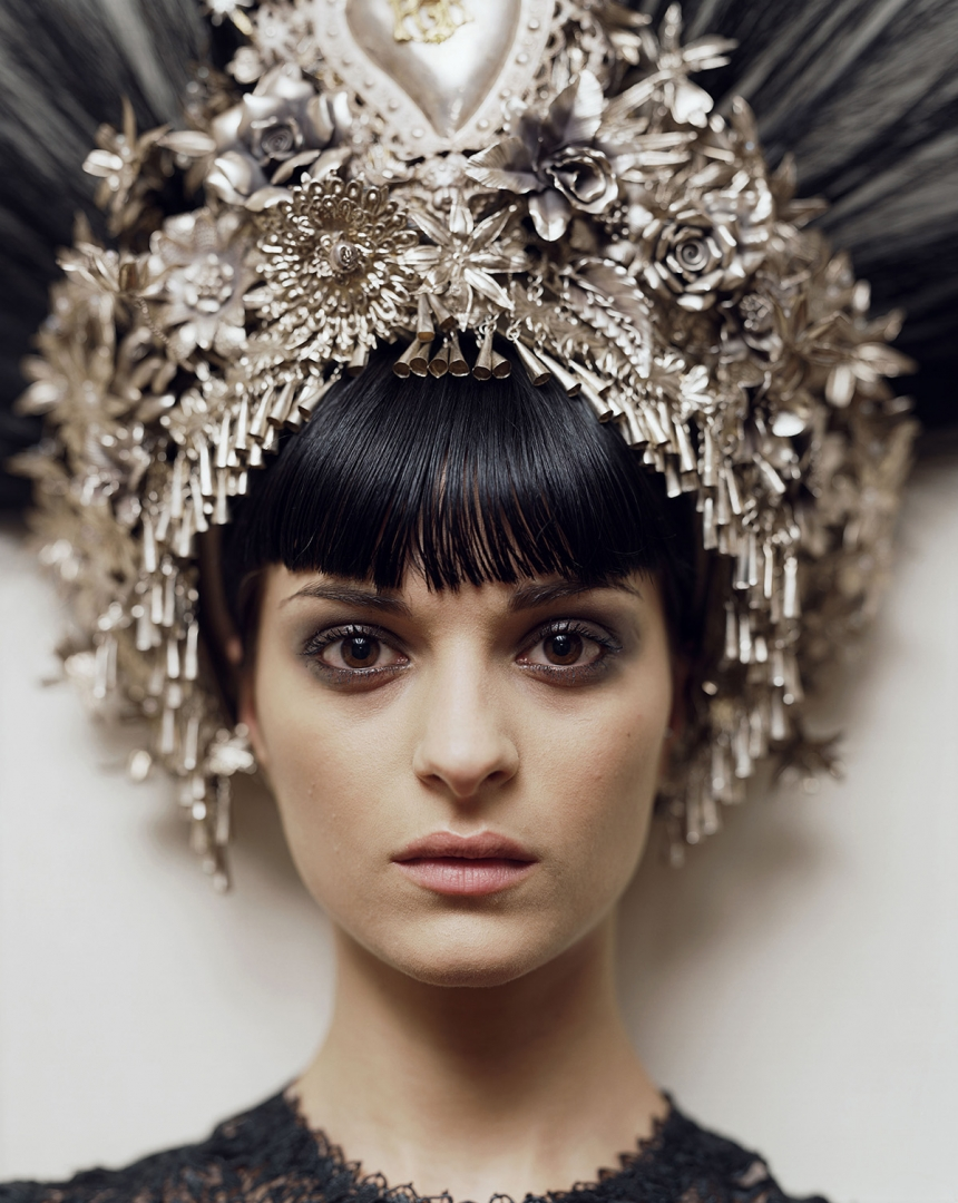 Natalia. Jean-Paul Gaultier headpiece & dress. Paris, 2007 © Alec Soth / Magnum Photos
