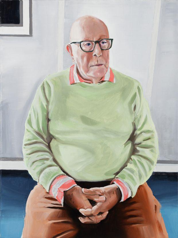 Portrait of Richard Wilson, oil on linen, 2020 © Paul Gervais