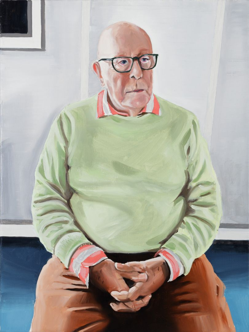 Portrait of Richard Wilson, oil on linen, 2020 © Paul Gervais