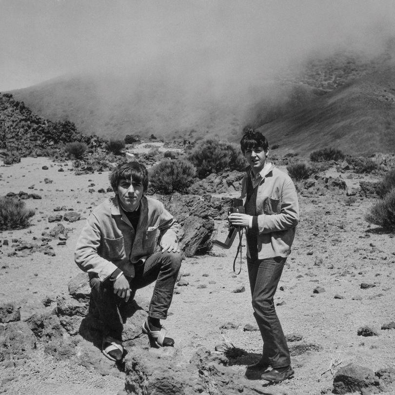 Astrid Kirchherr, Paul McCartney and George Harrison, 1963