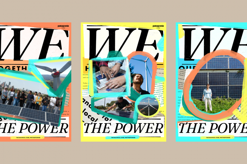 Upperquad's identity for Patagonia's new film looks at the power of the community energy movement