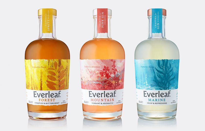 B&B studio's refreshing new identity for non-alcoholic aperitif, Everleaf