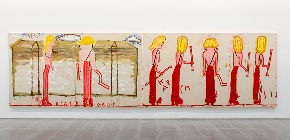 Rose Wylie, Installation view, 'Quack Quack' Serpentine Sackler Gallery, London (30 November 2017 – 11 February 2018) © 2017 Mike Din