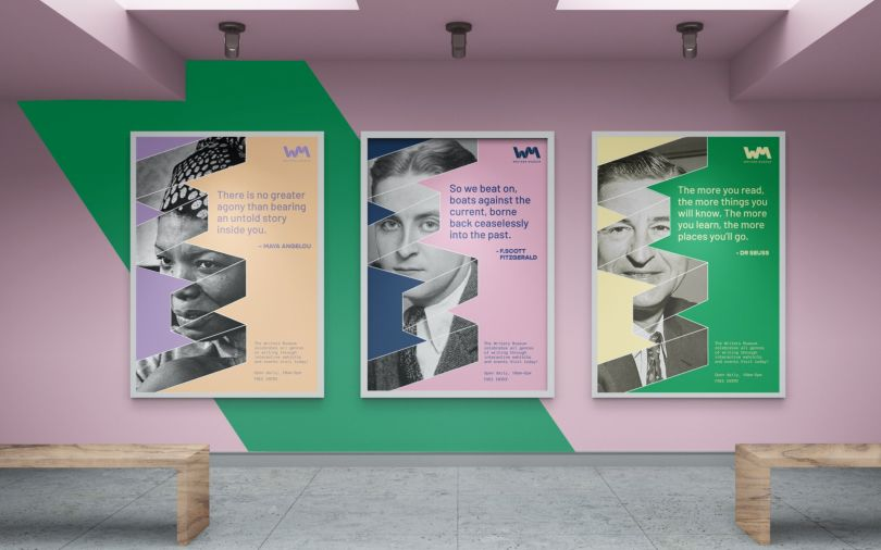 Branding for Writers' Museum by Lin Loke. All images courtesy of Shillington and its students.