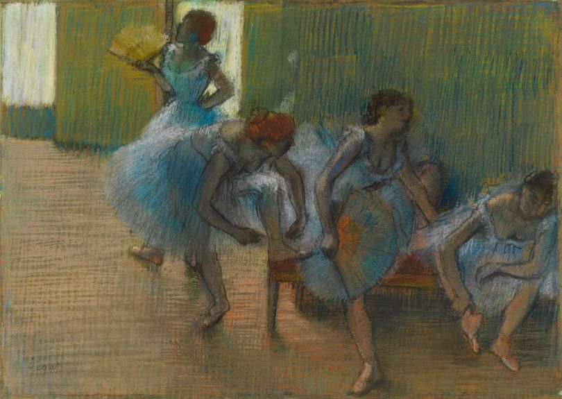 Hilaire-Germain-Edgar Degas Dancers on a Bench about 1898 Pastel on tracing paper 54.8 × 76 cm Glasgow Museums: Art Gallery & Museums, Kelvingrove (2441) © CSG CIC Glasgow Museums Collection