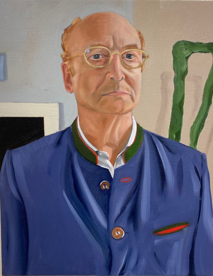 Gil at Home, oil on linen, 2020 © Paul Gervais
