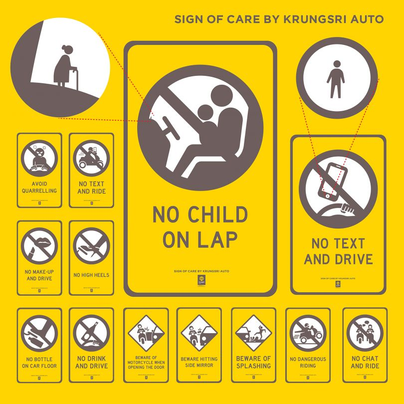 Sign of Care Virtual Traffic Sign by Krungsri Auto. Winner in the Social Design Category, 2019-2020.