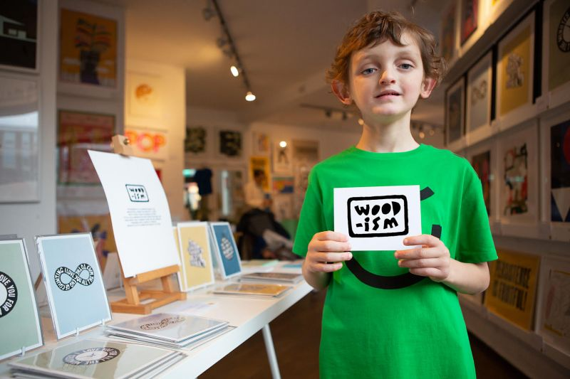 Sonny Adorjan launches Woodism, a shop selling artworks based on his autistic son's charming phrases