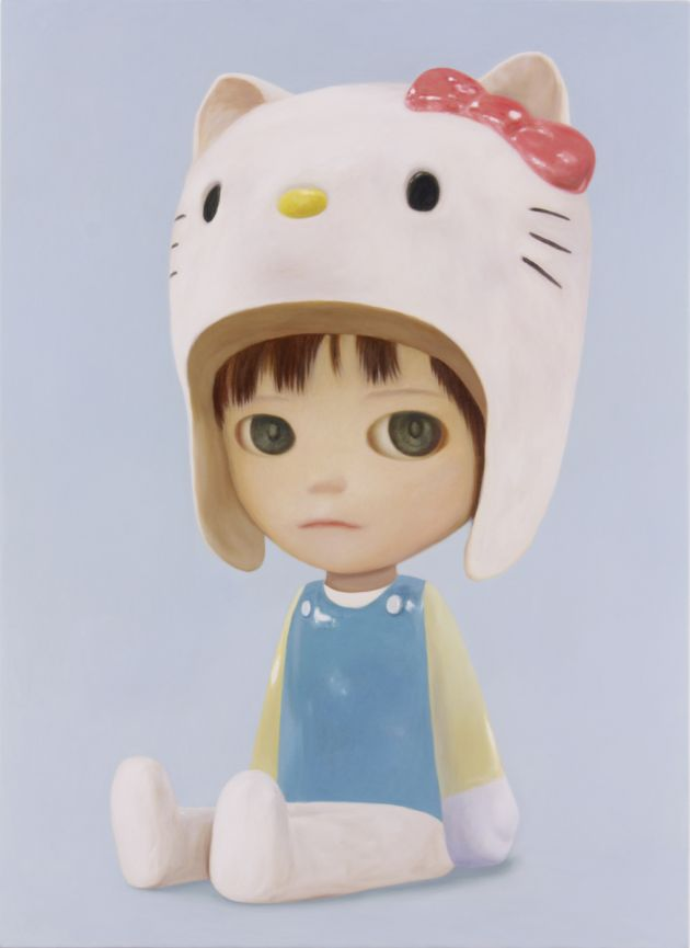 Mayuka Yamamoto 'Kitty Boy' (oil on canvas, 39.4 x 28.6 inches)