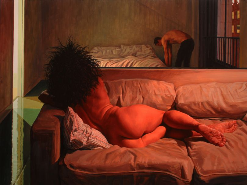 Nude Reclining - Oil on wood, 2015