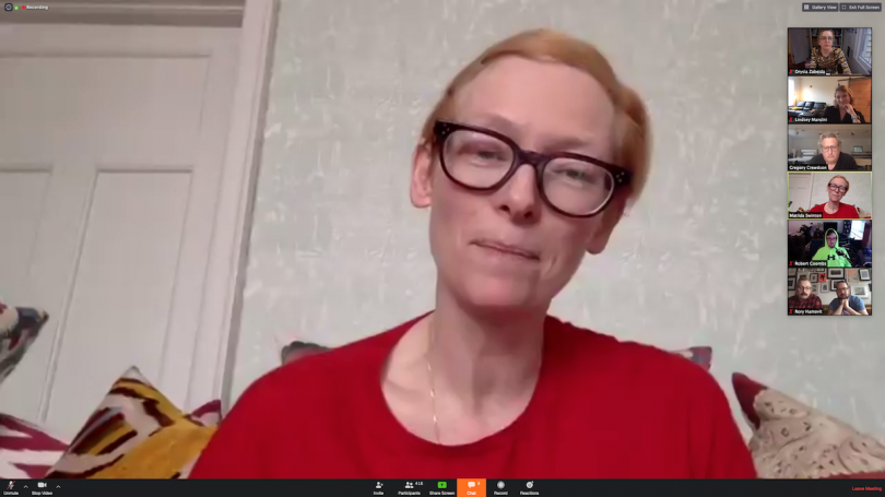 Tilda Swinton talking about the importance of an environment
