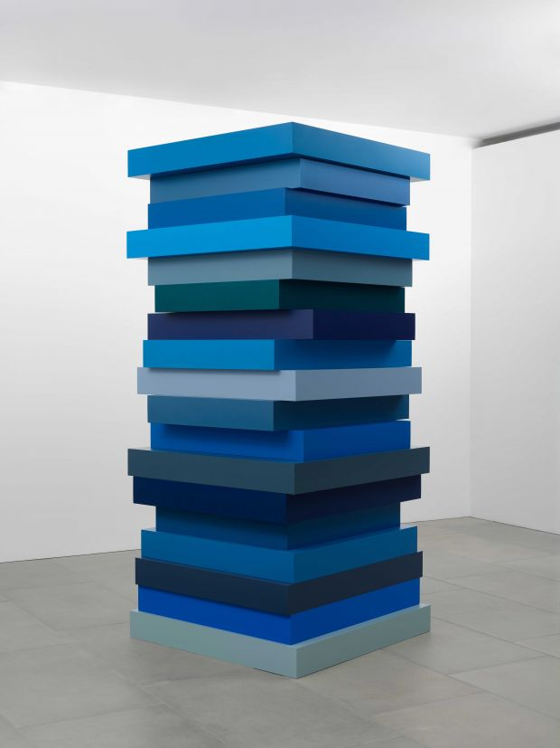 Sean Scully, Stack Blues, 2017. Courtesy of the artist and Blain   Southern; Photo © Peter Mallet