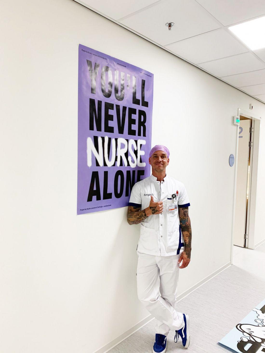 SSSS poster by Studio Lennarts en de Bruijn (NL) in Amphia hospital Breda with nurse Ruben van Schaik