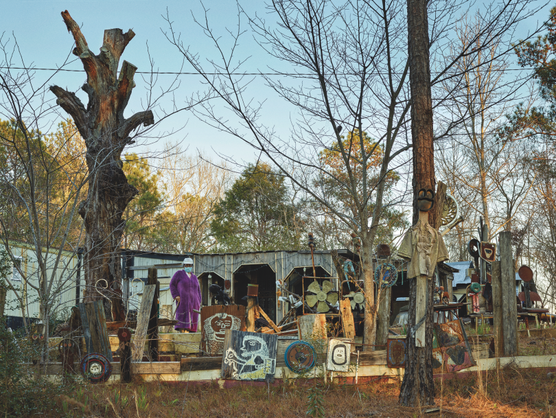 Annie Kornegay and the Garden of the Two-Headed Priest, Perryville © Andrew Moore, from Blue Alabama