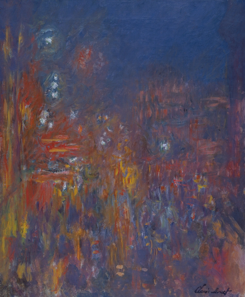 Claude Monet (1840 – 1926) Leicester Square  1901 Oil paint on canvas 805 x 648 mm Coll. Fondation Jean et Suzanne Planque (in deposit at Musée Granet, Aix-en-Provence) Photo: © Luc Chessex