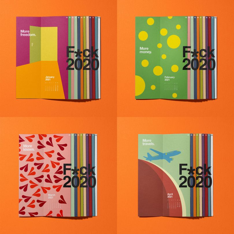 Fck 2020 Calendar by Lateral Creative Hub, winner in the Graphics, Illustration and Visual Communication Design Category, 2020-2021.