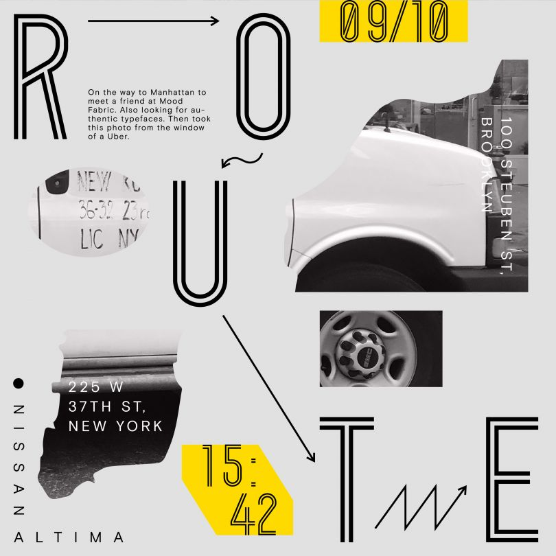 Route Poster by Adao Liu. Winner in the Graphics and Visual Communication Design Category, 2019-2020.
