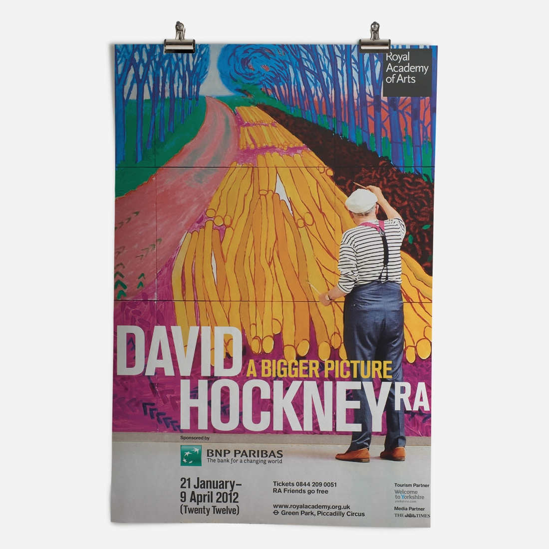 RA David Hockney Exhibition 2012 Epic Poster ​from the Royal Academy of Arts Collection