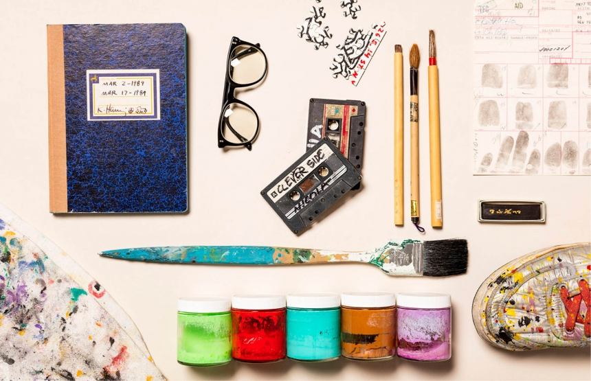Objects from Keith Haring's studio, New York, NY. Courtesy Keith Haring Foundation Archive
