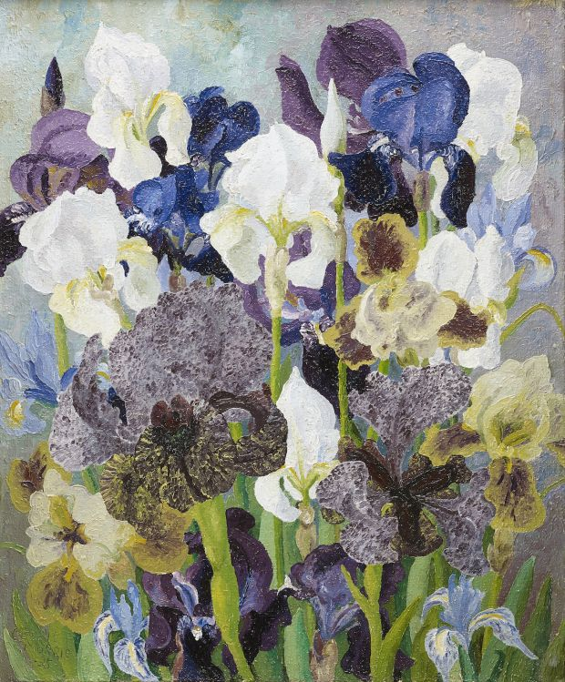 May Flowering Irises No. 2, 1935 Sir Cedric Morris Oil on canvas © Philip Mould & Company Courtesy the Cedric Morris Estate