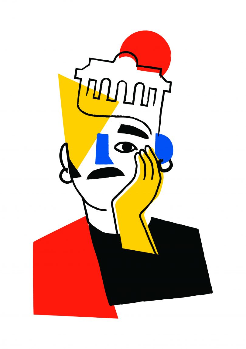 Spanish artist [Jose Antonio Roda](http://josearoda.bigcartel.com/)'s opening image symbolises Madrid, where he lives and works