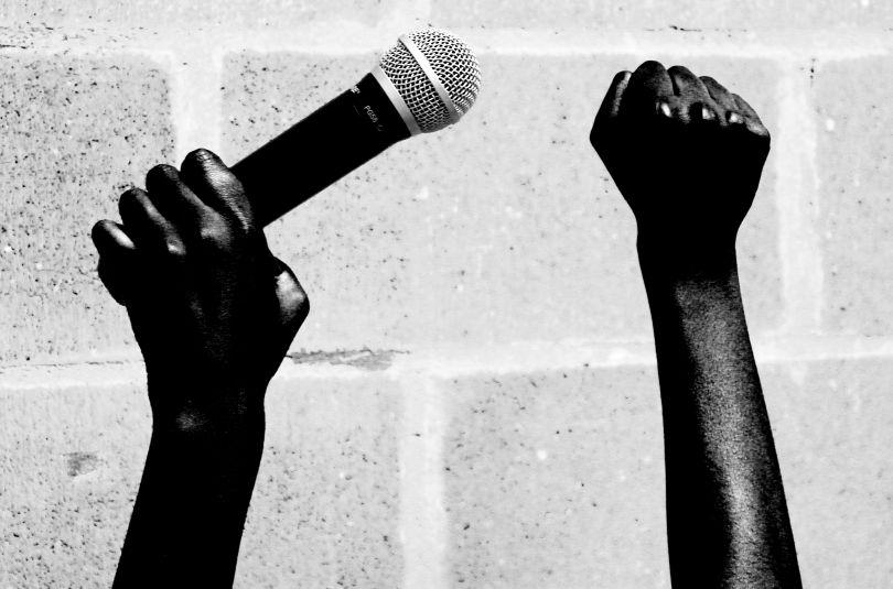 BS2, Resist & Revolt Black History, Live Transmission, Bristol Art Weekender, BEEF Studios, Bristol, UK, 2015. Image courtesy of the artist © Libita Clayton