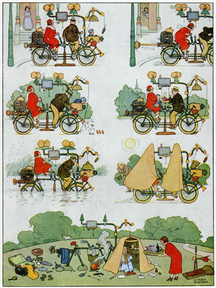 'A Perfect Picnic on the Week-End All-Weather Tandem', published in Hercules Cycle Magazine, 1935