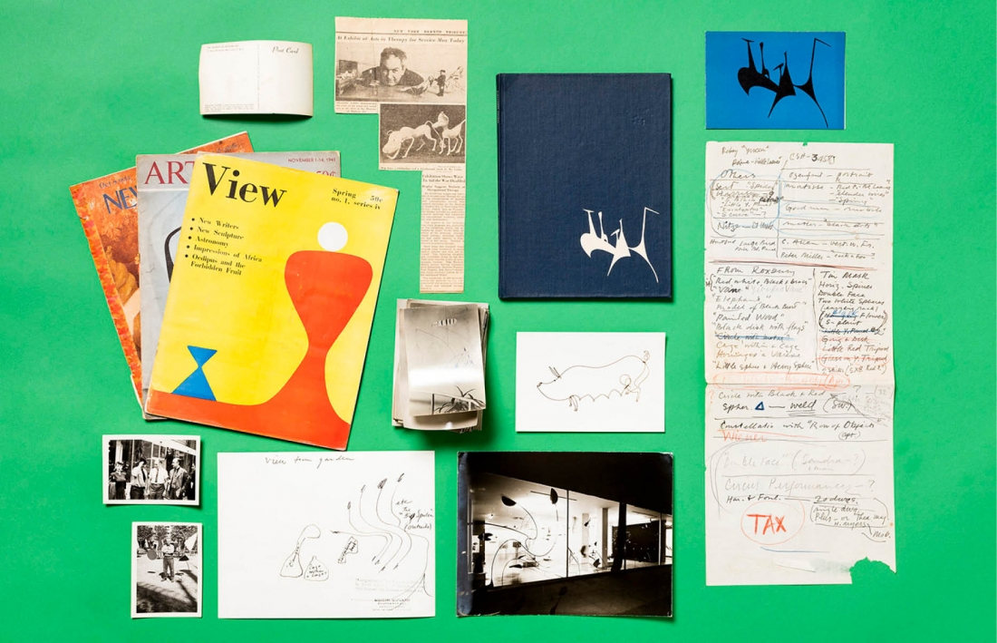 Items from the Calder Foundation archives. © 2017 Calder Foundation, New York / DACS London