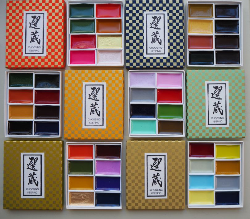 Retro Watercolour Sets by Choosing Keeping, image courtesy of the brand.