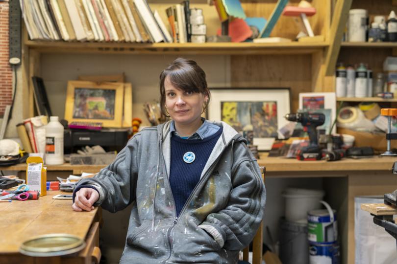 Alice Wilson in her studio