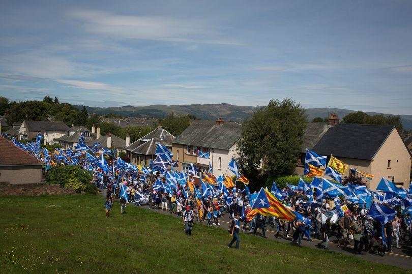 Pro-Scottish Independence march, in Bannockburn, Scotland, 23 June 2018. © Jeremy Sutton-Hibbert