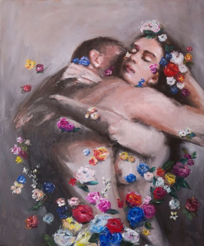 Diletta Innocenti Fagni paints hugs as a symbol of post-pandemic optimism