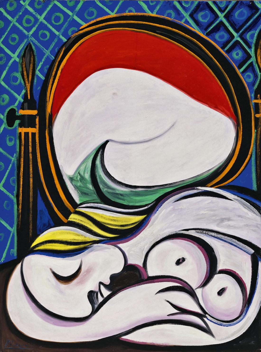 Pablo Picasso The Mirror (Le miroir) 1932 Oil paint on canvas 1300 x 970 mm Private Collection © Succession Picasso/ DACS London, 2017