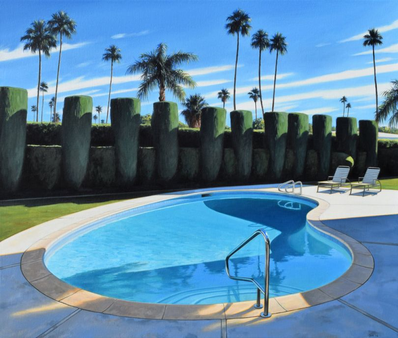 Pool and Hedges. © Danny Heller