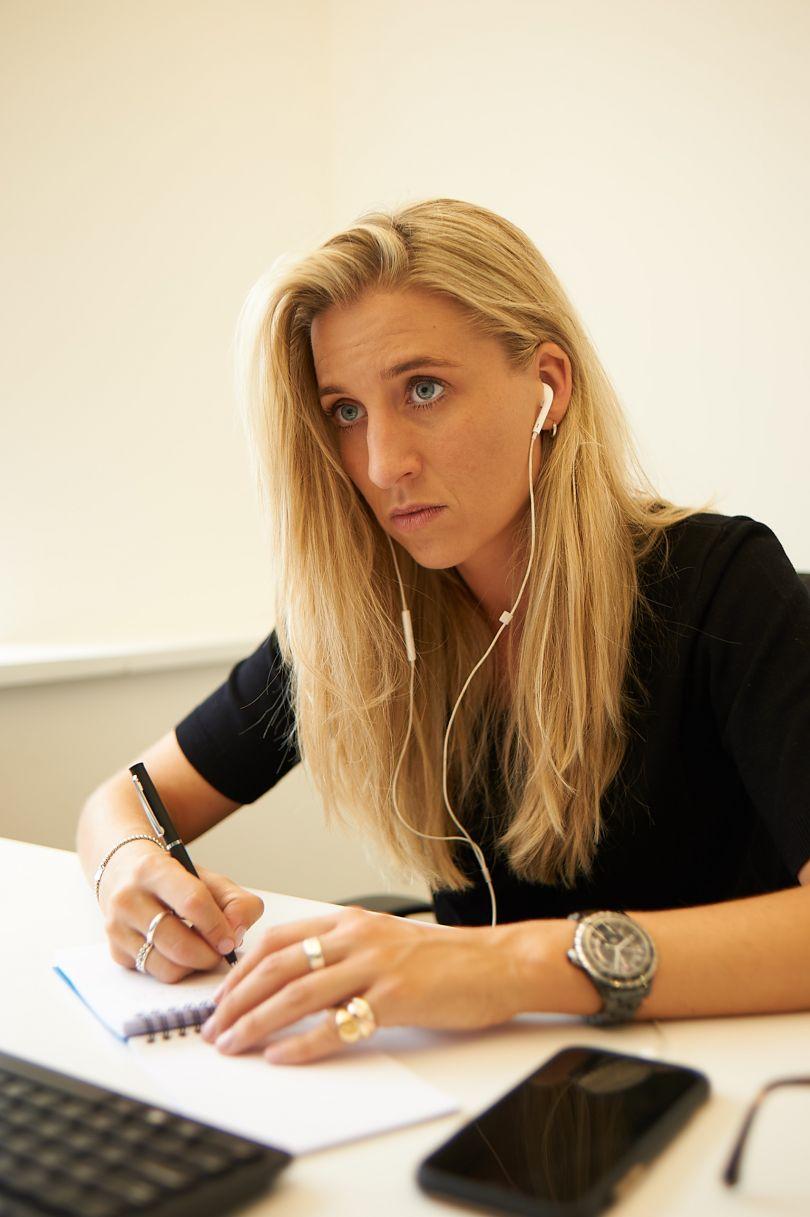 Georgie Hodge, Head of Women's Football at FA registered intermediary Base Soccer Agency. © Milo Belgrove