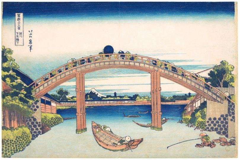Katsushika Hokusai – Under Mannen Bridge at Fukagawa Copyright: © TASCHEN/The Metropolitan Museum of Art, New York