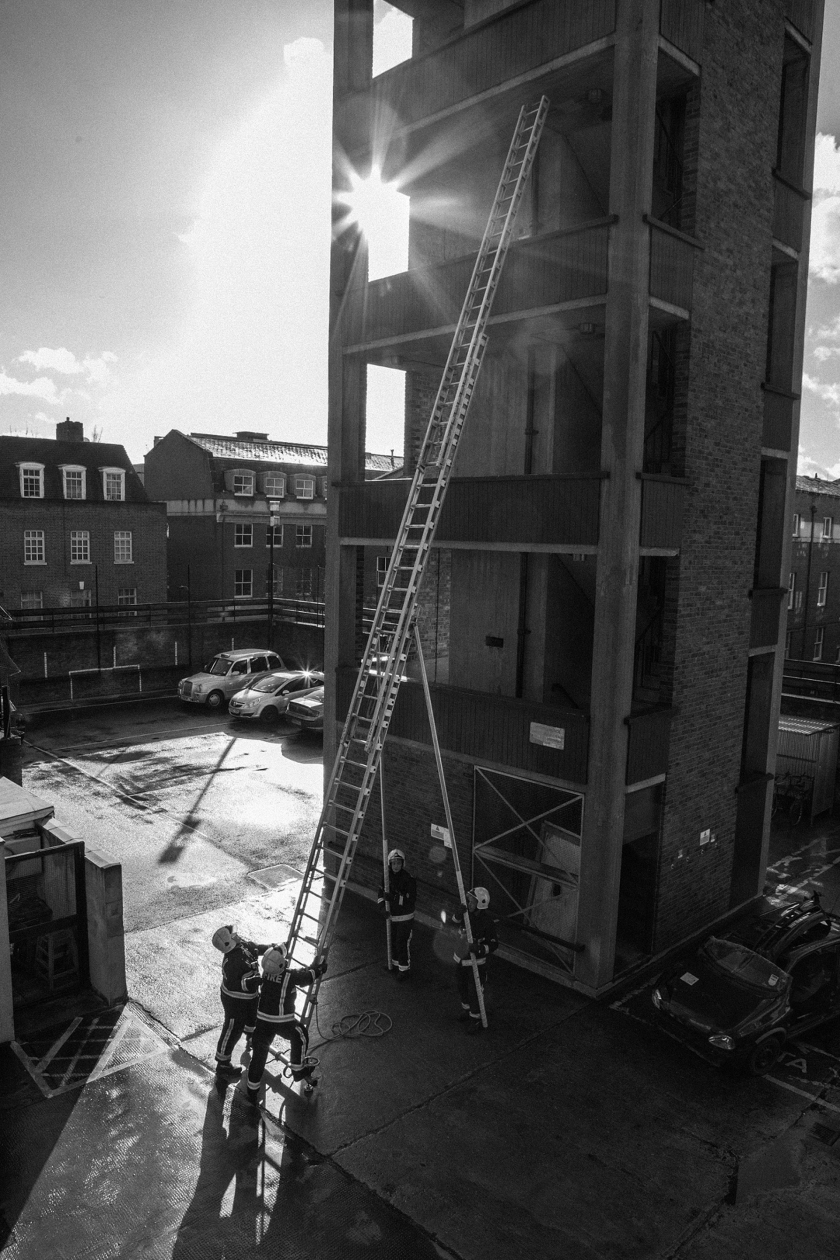 Clerkenwell Fire Station, which closed after 142 years. Rosebery Avenue - 2014