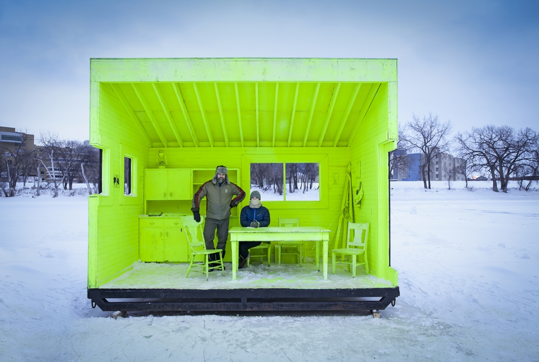 Photographer: Paul Turang Hygge House Warming Hut, Winnipeg, Canada  Architect: Plain Projects, Pike Projects, Urbanink