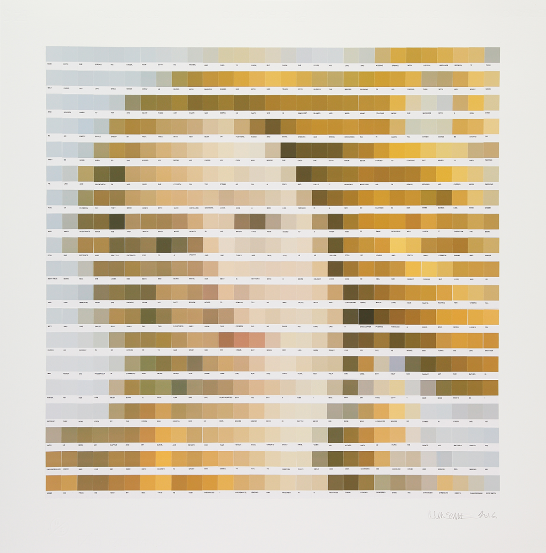 Pixel Art Artist Uses Thousands Of Colour Chips To Create