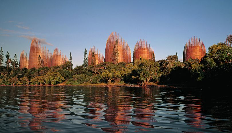 Jean-Marie Tjibaou Cultural Centre, Nouméa, New Caledonia, Renzo Piano, 1998. Picture credit: Gollings, John © ADCKcentre culturel Tjibaou/ RPBW, Renzo Piano Building Workshop, architects