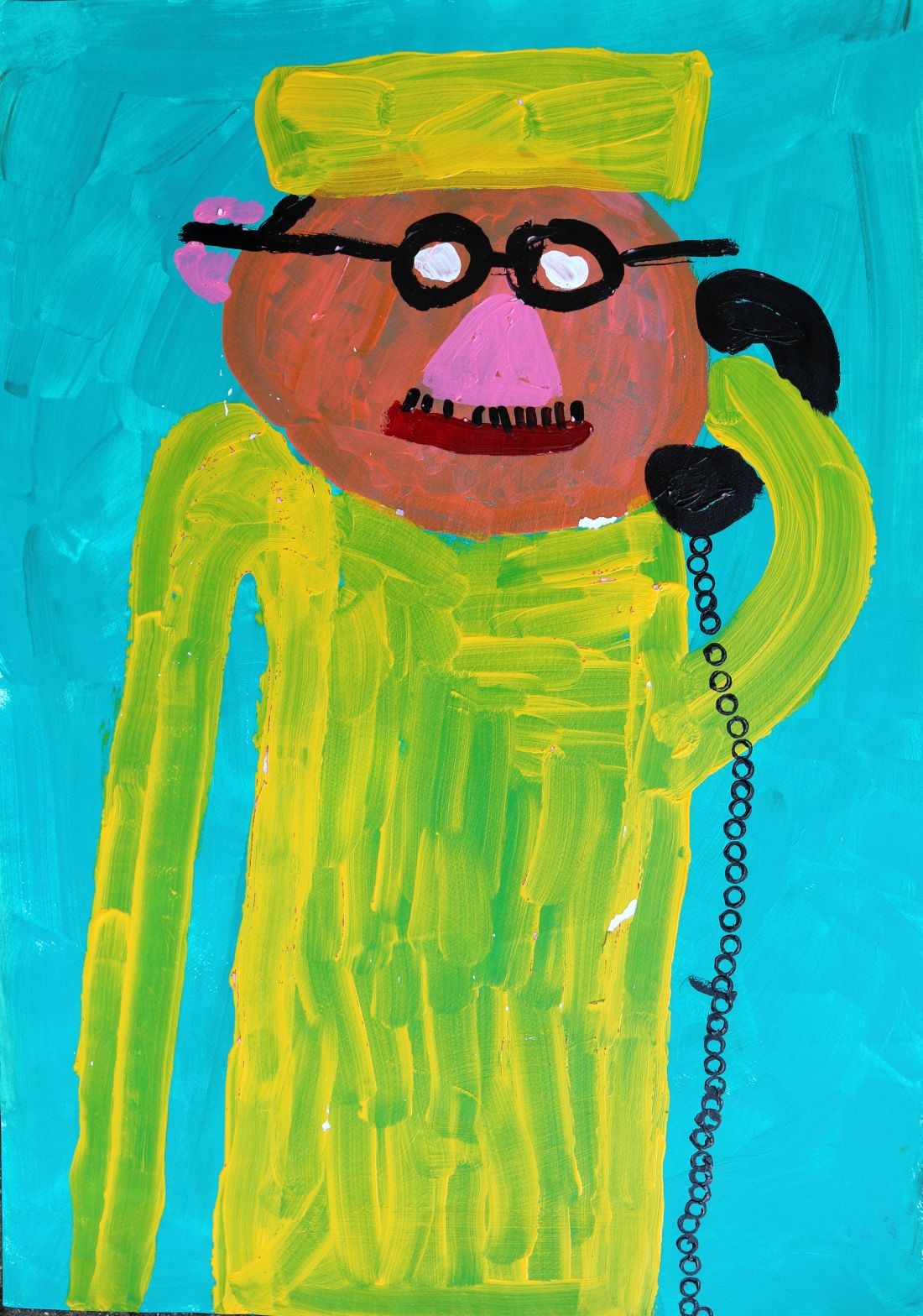Paintings by neurodiverse artist Paul Wright pay homage to Britain's best-loved TV characters