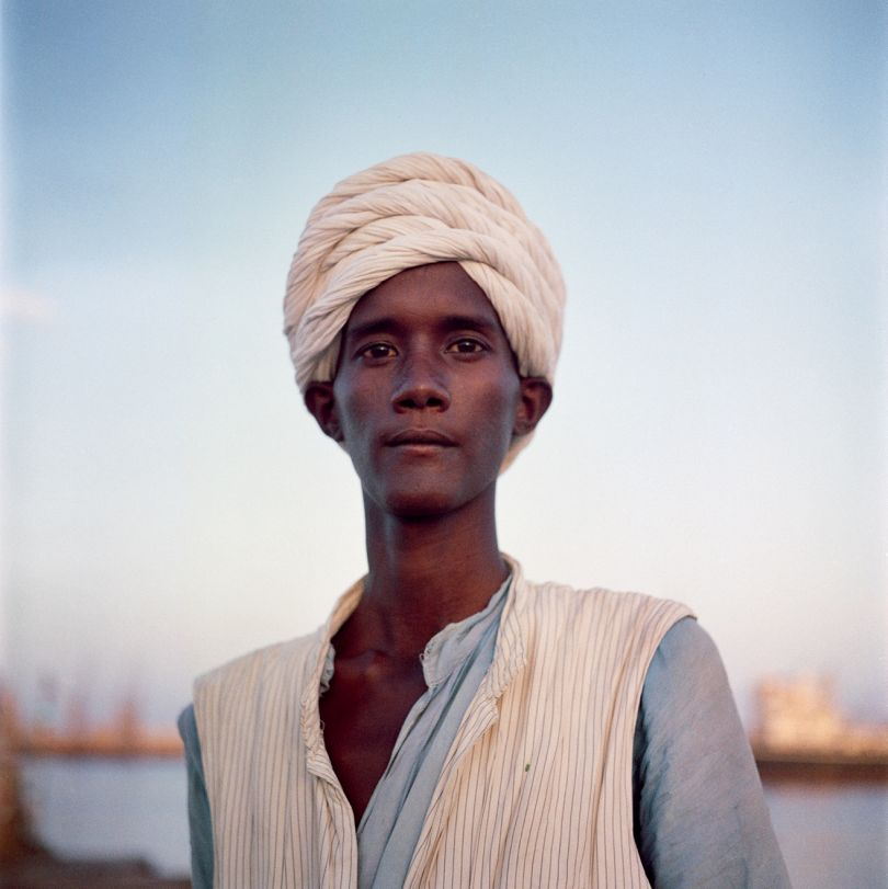 Sudan, 1958 – Portrait of a man with a turban near the port © 2021 Todd Webb Archive