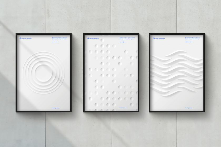 Landor celebrates sound with a new identity for Hearing Australia that you can hear, see and feel
